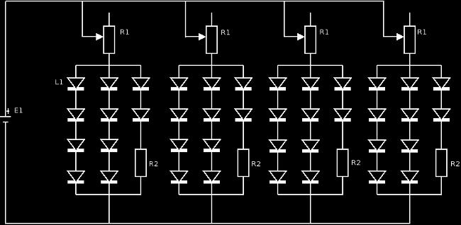 Premier schéma électrique de ma lampe